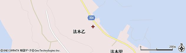 山形県酒田市飛島法木乙周辺の地図
