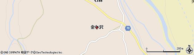 秋田県由利本荘市矢島町元町(金ケ沢)周辺の地図
