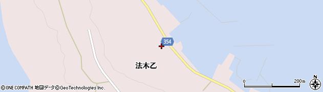 山形県酒田市飛島法木乙232周辺の地図