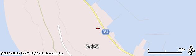 山形県酒田市飛島法木乙245周辺の地図