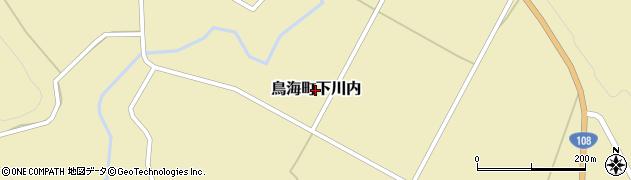秋田県由利本荘市鳥海町下川内周辺の地図