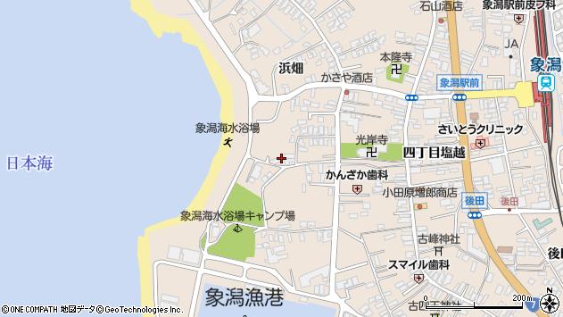 〒018-0109 秋田県にかほ市象潟町冠石下の地図