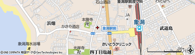 秋田県にかほ市象潟町四丁目塩越187周辺の地図