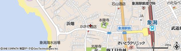 秋田県にかほ市象潟町四丁目塩越191周辺の地図