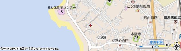 秋田県にかほ市象潟町二丁目塩越255周辺の地図
