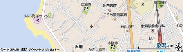 秋田県にかほ市象潟町二丁目塩越33周辺の地図