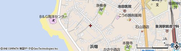 秋田県にかほ市象潟町二丁目塩越154周辺の地図