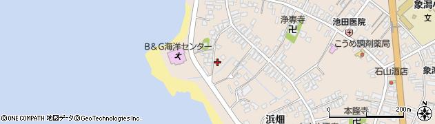 秋田県にかほ市象潟町二丁目塩越232周辺の地図