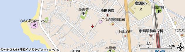 秋田県にかほ市象潟町二丁目塩越31周辺の地図