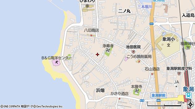 〒018-0118 秋田県にかほ市象潟町2丁目塩越の地図