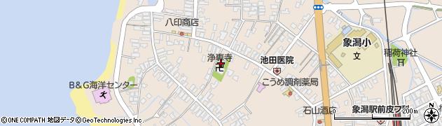 秋田県にかほ市象潟町二丁目塩越56周辺の地図