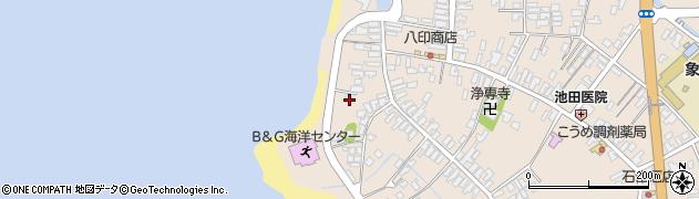 秋田県にかほ市象潟町二丁目塩越192周辺の地図