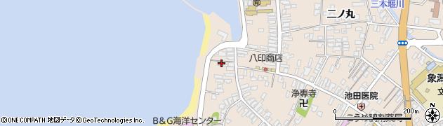 秋田県にかほ市象潟町二丁目塩越93周辺の地図