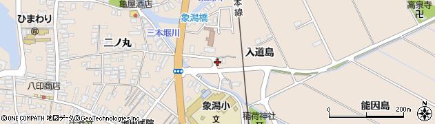 秋田県にかほ市象潟町入道島42周辺の地図