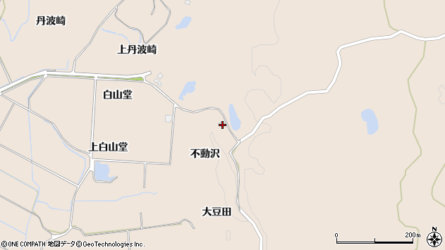 〒018-0182 秋田県にかほ市象潟町不動沢の地図