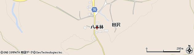 秋田県由利本荘市矢島町元町(八木林)周辺の地図