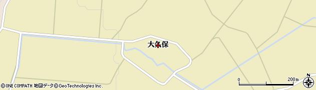 秋田県由利本荘市鳥海町下川内(大久保)周辺の地図