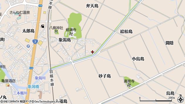 〒018-0155 秋田県にかほ市象潟町弁天島の地図