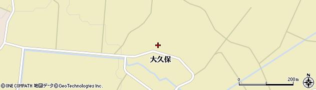 秋田県由利本荘市鳥海町下川内(小久保)周辺の地図