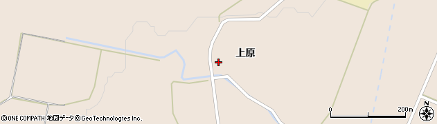 秋田県由利本荘市矢島町元町(上原)周辺の地図