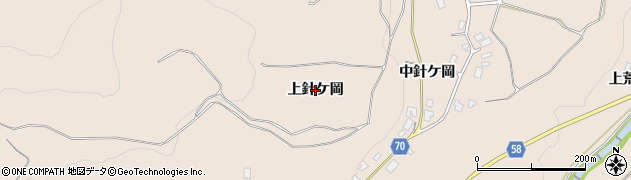 秋田県由利本荘市矢島町荒沢(上針ケ岡)周辺の地図