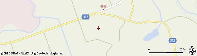 秋田県にかほ市冬師冬師70周辺の地図
