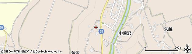 秋田県由利本荘市矢島町荒沢(荒沢)周辺の地図