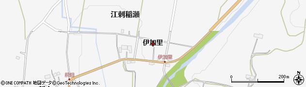 岩手県奥州市江刺稲瀬(伊加里)周辺の地図