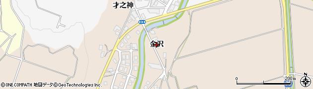 秋田県由利本荘市矢島町荒沢(金沢)周辺の地図