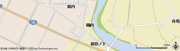 秋田県由利本荘市矢島町坂之下(郷内)周辺の地図