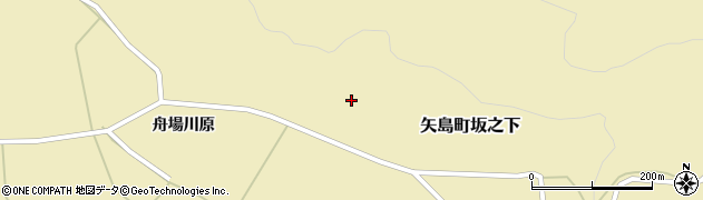 秋田県由利本荘市矢島町坂之下(中屋敷)周辺の地図