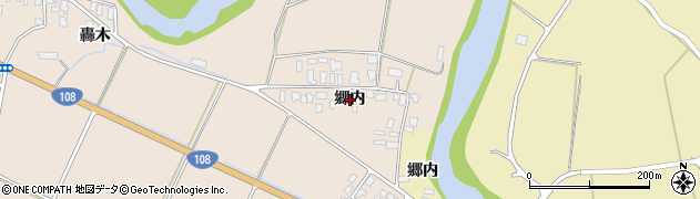 秋田県由利本荘市矢島町元町(郷内)周辺の地図