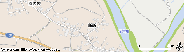 秋田県由利本荘市矢島町元町(新所)周辺の地図