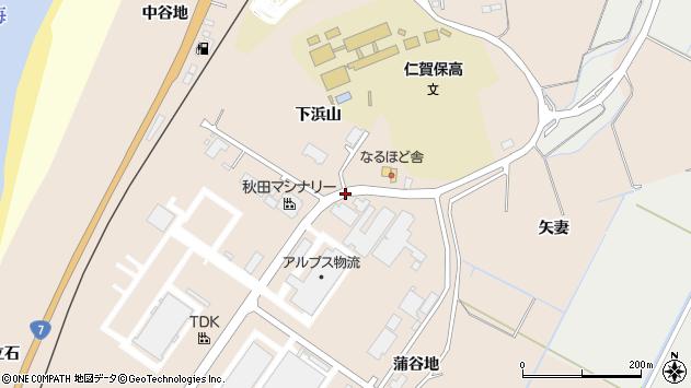 〒018-0145 秋田県にかほ市象潟町源蔵潟の地図