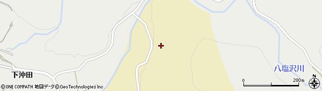 秋田県由利本荘市矢島町坂之下(上八塩沢)周辺の地図