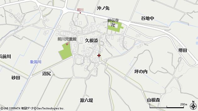 〒018-0321 秋田県にかほ市前川の地図