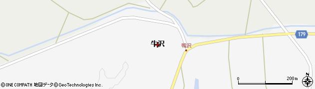 岩手県奥州市江刺玉里(牛沢)周辺の地図