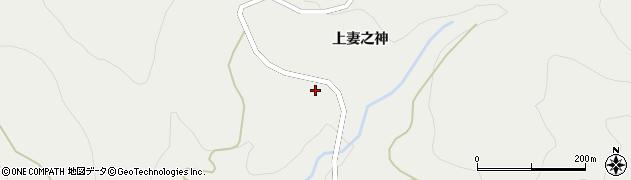 秋田県由利本荘市矢島町新荘(鍋倉)周辺の地図