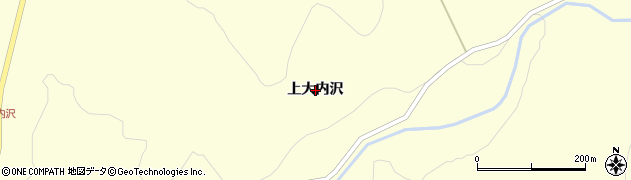 岩手県奥州市江刺米里(上大内沢)周辺の地図