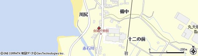 秋田県にかほ市金浦川尻46周辺の地図