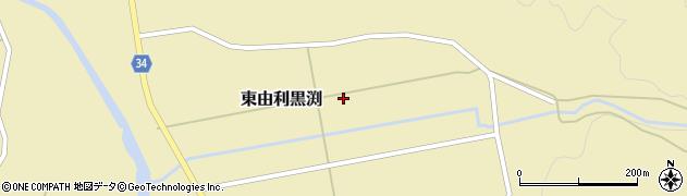 秋田県由利本荘市東由利黒渕(森ノ越)周辺の地図