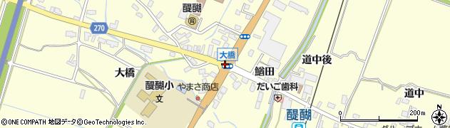 大橋周辺の地図