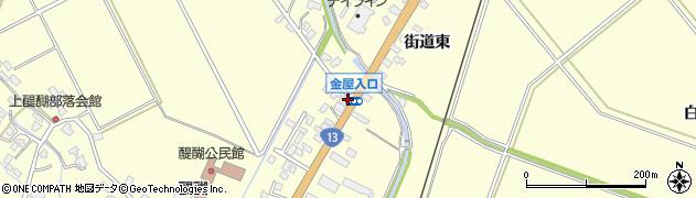 金屋入口周辺の地図