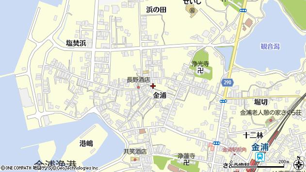 〒018-0311 秋田県にかほ市金浦の地図