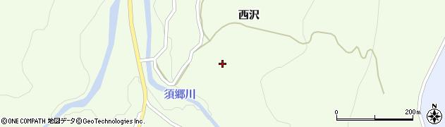 秋田県由利本荘市西沢(坂ノ下)周辺の地図