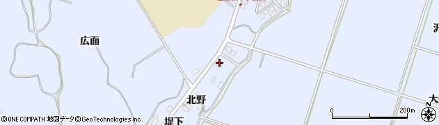 秋田県にかほ市田抓北野99周辺の地図