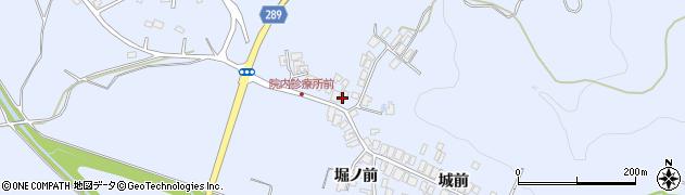 秋田県にかほ市院内〆カケ15周辺の地図