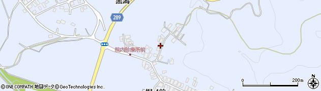 秋田県にかほ市院内〆カケ16周辺の地図