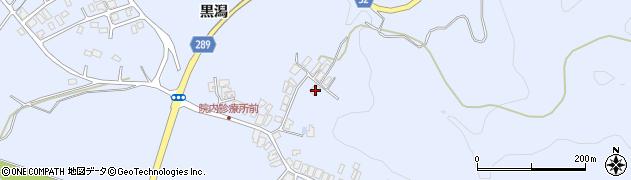 秋田県にかほ市院内〆カケ42周辺の地図