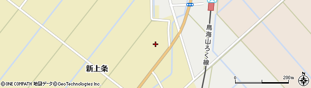 秋田県由利本荘市新上条(家ノ下)周辺の地図